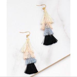 Jewelry - ✜ Color Block Tassel Earrings ✜